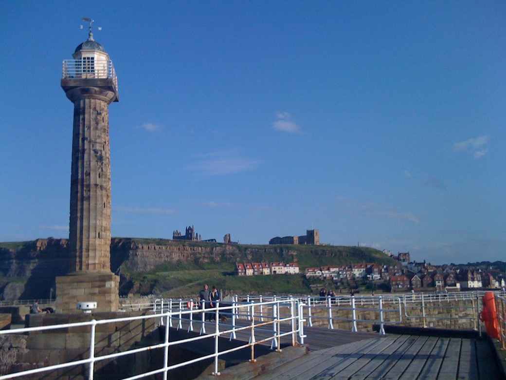 Whitby harbour, takes you to the Folk Week web site in a new page